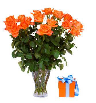 15 orane roses